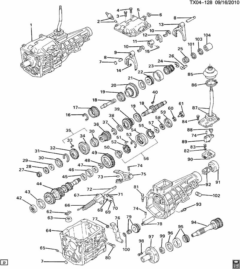 all parts of a manual transmission