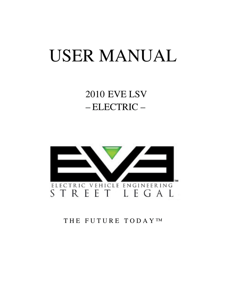 2010 eve lsv electric part manual