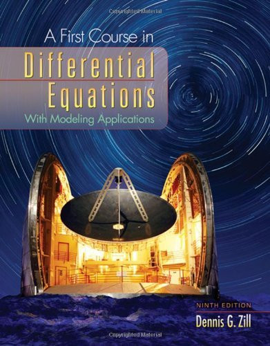 a first course in differential equations zill solutions manual pdf