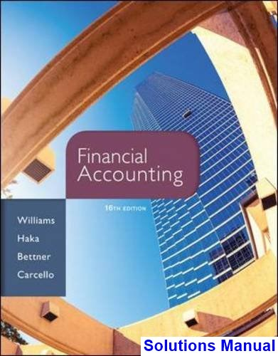 introduction to financial accounting 10th edition solutions manual