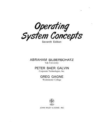 operating system galvin 8th edition solution manual pdf