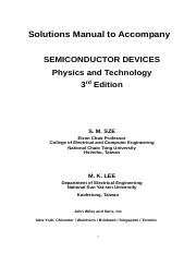 semiconductor devices physics and technology 2nd edition solution manual
